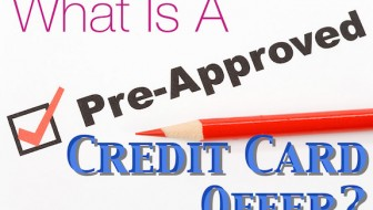 What is a pre-approved credit card offer?